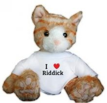 Cat Plush Toy with I Love Riddick T-shirt