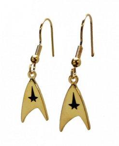 Star Trek Goldtone French Wire Earrings