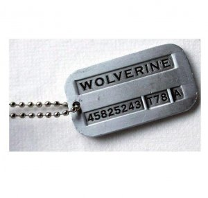 Wolverine Tag Necklace Vintage